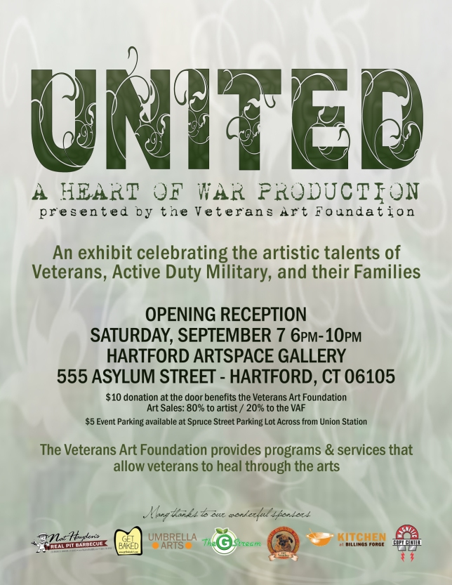United Art Show Flyer